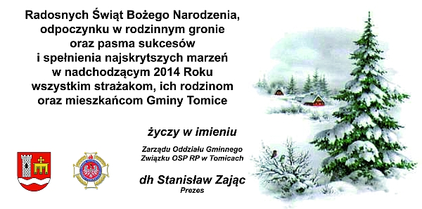 Życzenia świąteczne – Boże Narodzenie 2013